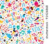 birthday pattern | Shutterstock .eps vector #91426868