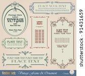 vintage style labels | Shutterstock .eps vector #91431659
