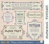 vintage style labels | Shutterstock .eps vector #91431665