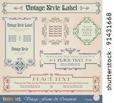 vintage style labels | Shutterstock .eps vector #91431668
