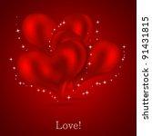 valentines day background.... | Shutterstock .eps vector #91431815