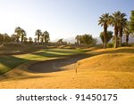 sand trap and green in...   Shutterstock . vector #91450175