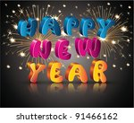 happy new year | Shutterstock .eps vector #91466162