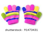 Bright Striped Baby Gloves...