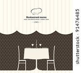 vector. restaurant menu design | Shutterstock .eps vector #91476485