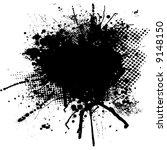 black and white ink splodge... | Shutterstock .eps vector #9148150