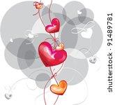 heart background  vector... | Shutterstock .eps vector #91489781