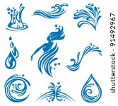 water icons | Shutterstock .eps vector #91492967