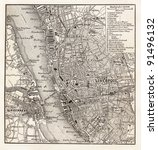vintage map of liverpool   ... | Shutterstock . vector #91496132