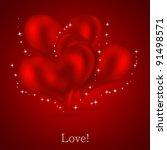 valentines day background.... | Shutterstock . vector #91498571
