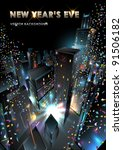 new years eve in downtown.... | Shutterstock .eps vector #91506182