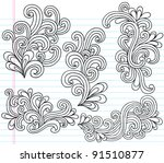 notebook doodle swirly vector...