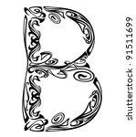 art nouveau style font   letter ...
