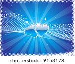 valentines day background with... | Shutterstock .eps vector #9153178