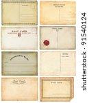 old postcards set | Shutterstock . vector #91540124