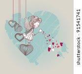 love fairy | Shutterstock .eps vector #91541741