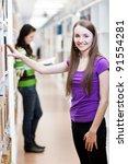 in the library   pretty female... | Shutterstock . vector #91554281