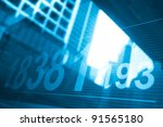 stock index with building... | Shutterstock . vector #91565180