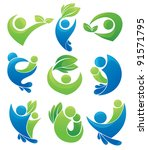 vector collection of ecological ... | Shutterstock .eps vector #91571795