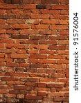Old Worn Vertical Brick Wall A...