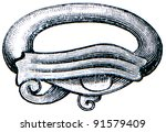 egyptian glazed earthen ring  ... | Shutterstock . vector #91579409