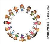 vector of colorful children... | Shutterstock .eps vector #91589453