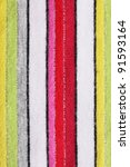 A striped fabric as a backbround and pattern - stock photo