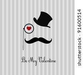 valentine's day card design | Shutterstock .eps vector #91600514