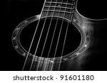 classical guitar closeup  ... | Shutterstock . vector #91601180