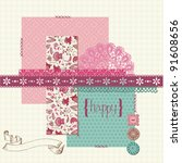 scrapbook design elements   for ... | Shutterstock .eps vector #91608656