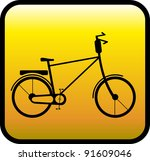 Glossy Yellow Icon With Retro...
