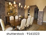 upscale formal dining room with ... | Shutterstock . vector #9161023