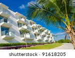 front side of the caribbean... | Shutterstock . vector #91618205