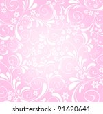 pink floral background | Shutterstock .eps vector #91620641