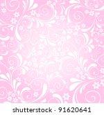 pink floral background | Shutterstock .eps vector #91620641