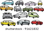 vector group illustration of... | Shutterstock .eps vector #91621832
