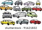 vector group illustration of... | Shutterstock .eps vector #91621832