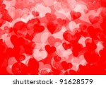 background from hearts | Shutterstock . vector #91628579