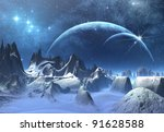 Ice Planet  Fantasy Landscape...