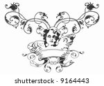 illustration of a retro banner... | Shutterstock .eps vector #9164443