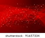 red holiday abstract background | Shutterstock .eps vector #91657334
