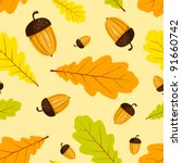 Autumn Seamless Pattern. Vecto...