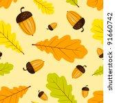 Autumn Seamless Pattern. Vecto...
