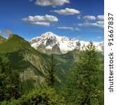 Mont Blanc  Monte Bianco  From...