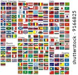 the national flags of all... | Shutterstock .eps vector #9166825