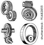 gear system | Shutterstock .eps vector #91682855