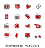 multimedia icons | Shutterstock .eps vector #91696475
