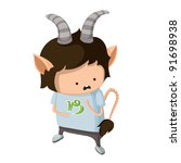a boy dressed up like a sign of ... | Shutterstock .eps vector #91698938