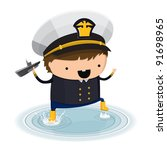 a boy dressed up like a sign of ...   Shutterstock .eps vector #91698965