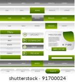 web navigation pack with banner | Shutterstock .eps vector #91700024